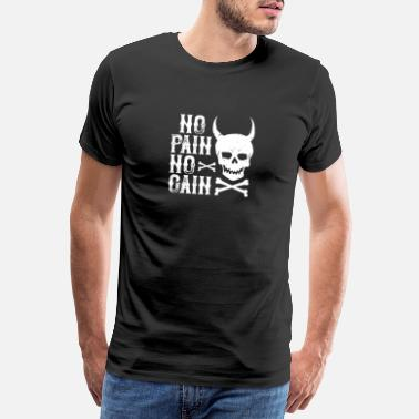 Grim Reaper No pain no gain - ZinSpira - Men's Premium T-Shirt