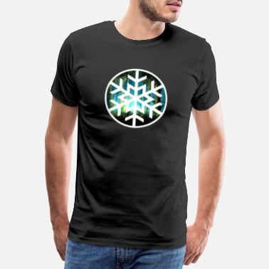 Ornament aesthetic snow flake grunge ornament nature winter - Männer Premium T-Shirt