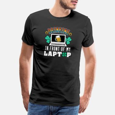England St. Patrick's Day St. Pattys Day 2021 Laptop - Men's Premium T-Shirt