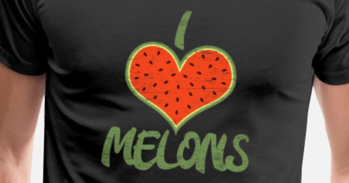 Ich liebe Melonen Geschenk Warm Sommer Männer Premium T