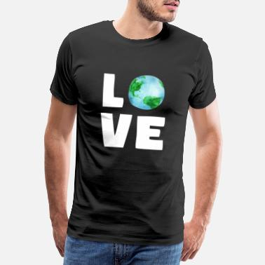 Clean Earth LOVE planet earth environment climate protection - Men's Premium T-Shirt