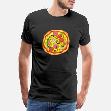 Margherita Retro vintage grunge style pizza - Men's Premium T-Shirt