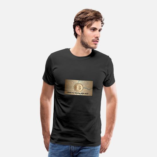 Bitcoin T-Shirts - Bitcoin is the future! - Männer Premium T-Shirt Schwarz