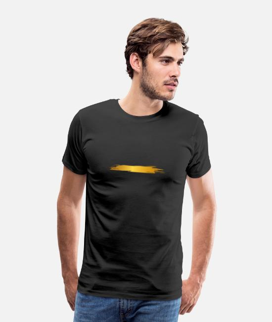 Line T-Shirts - Paint blob splash paint painter gift gold stripes - Men's Premium T-Shirt black