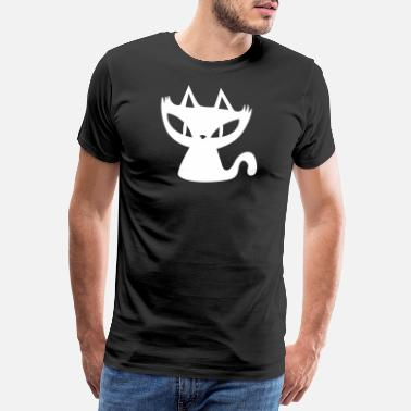 Witchcraft Cute Cat Halloween Cobwebs Witches Funny - Men's Premium T-Shirt