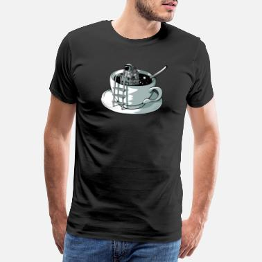 Designs Of The Month Space coffee - Men's Premium T-Shirt