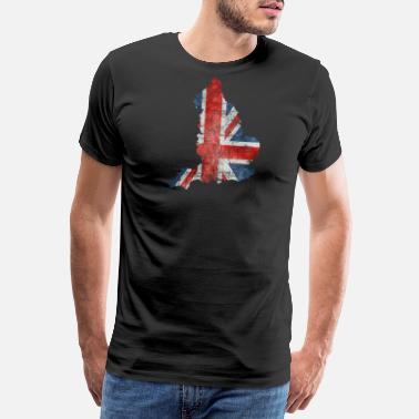 Uk Flag Maps Uk Grunge Flag - Men's Premium T-Shirt
