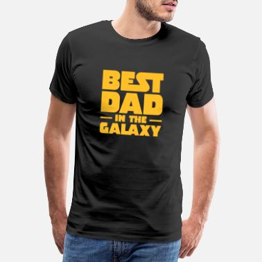 Galaxy Best Dad In The Galaxy - Premium T-shirt mænd