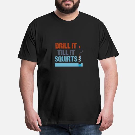 Eisfischen Eisloch Geschenk Fisch Fischen Angel Männer Premium T Shirt Schwarz