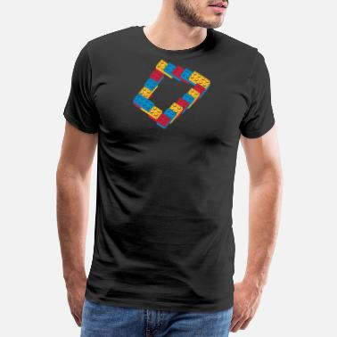 optical illusion - endless steps - Men's Premium T-Shirt