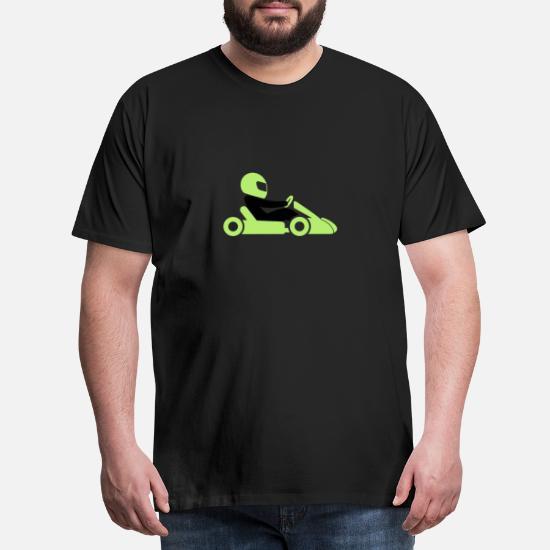 En racer med hjelm og bil Premium T shirt mænd | Spreadshirt