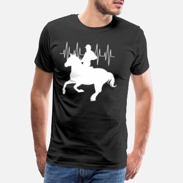 No Pain No Gain Horse Riding - Männer Premium T-Shirt