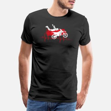 Motorcycle Heartbeat Crossbike Motorcycle Heartbeat Motocross - Men's Premium T-Shirt