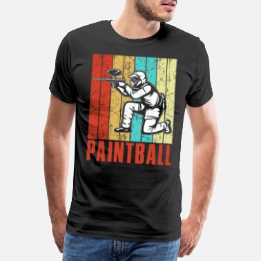 Action Vintage paintball - Premium T-shirt herr