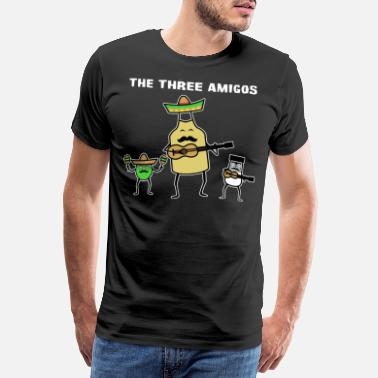 Salt The Three Amigos Tequila Salt Lime - Men's Premium T-Shirt