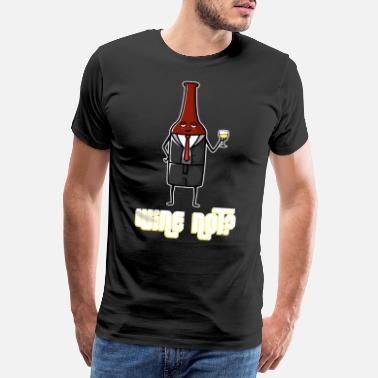 Barrel Wine saying - Wine Not - Men's Premium T-Shirt