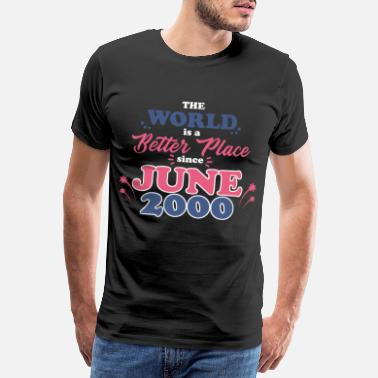 Bet Better Place Motif til juni 2000 (Dark) - Premium T-shirt mænd