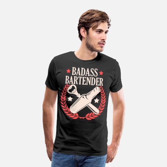 Alcohol T-Shirts - Bartender Gift Cocktail Bar Bartender Bartender - Men's Premium T-Shirt black