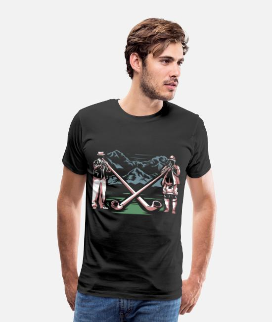 Mountains T-Shirts - Alphorn Alps - Men's Premium T-Shirt black