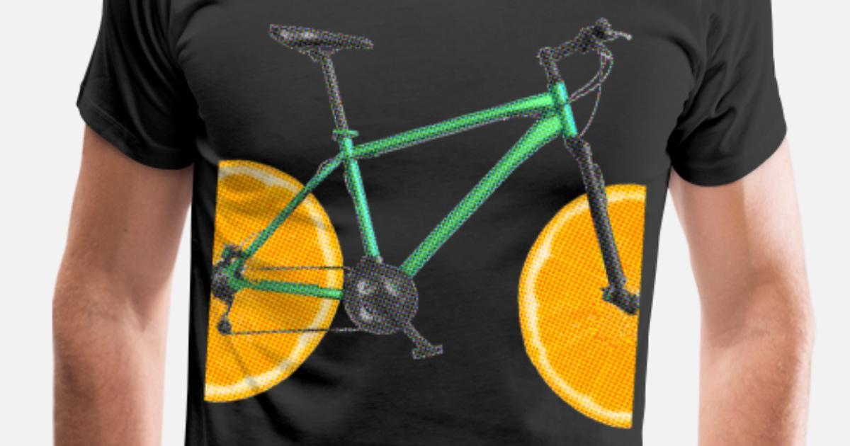 Sykkel med sitron lime appelsin Premium T skjorte for menn