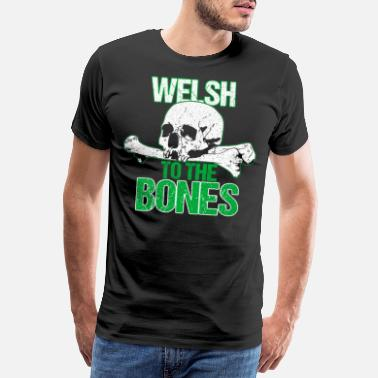 Leek Welsh to the bone - Men's Premium T-Shirt