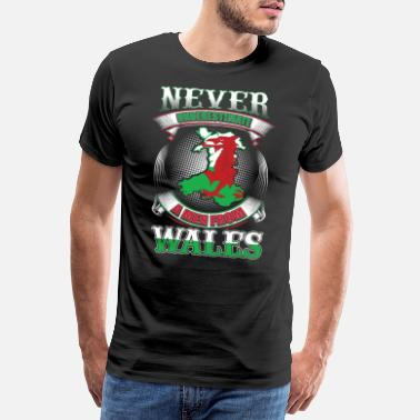 Red Dragon Never underestimate Wales gift idea - Men's Premium T-Shirt