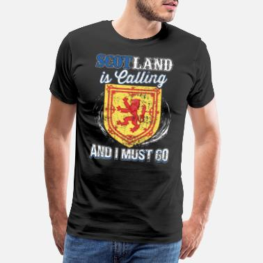 Scottish Scotland calls gift - Men's Premium T-Shirt