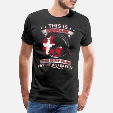 Danish This is Denmark This is my flag gift - Men's Premium T-Shirt