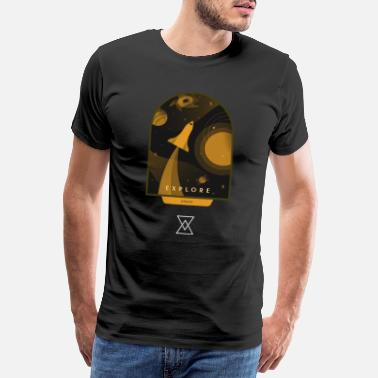 Urban Explorer Space explore urban retro design - Männer Premium T-Shirt