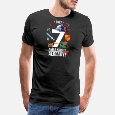 2012 7th Birthday Boy Only 7 And A Knight Already - Men's Premium T-Shirt