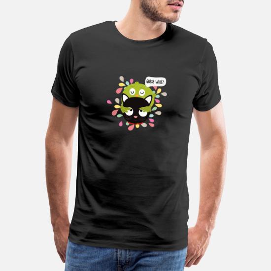 Fuglen og katten gæt hvem S3z9i Premium T shirt mænd