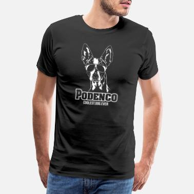 Windhund PODENCO coolest dog ever Wilsigns Geschenk Hunde - Männer Premium T-Shirt