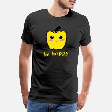 Paprika be happy yellow peppers - Men's Premium T-Shirt