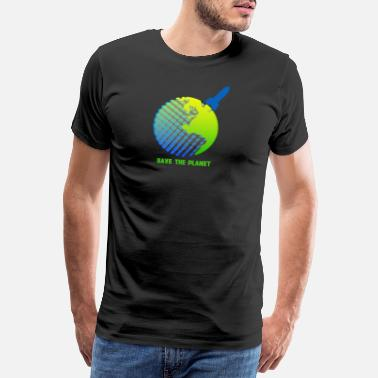 Save The Vinyl save the planet - Männer Premium T-Shirt