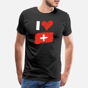 National Colours I love Switzerland - Men's Premium T-Shirt