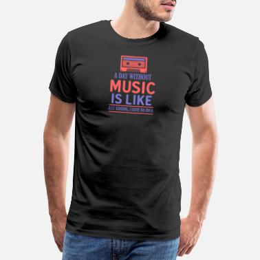 Rock And Roll Music Like Retro Kassette - Männer Premium T-Shirt