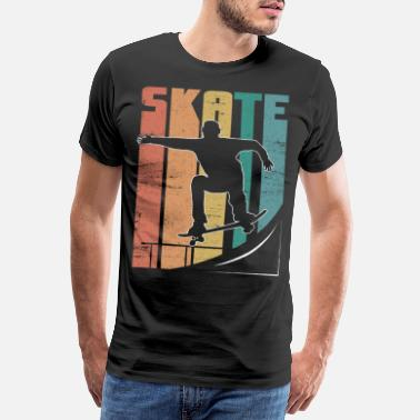 Såret Skateboard Pipe Sun Crew Ollie Cool Road - Premium T-skjorte for menn