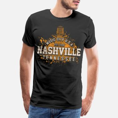Country Nashville Tennessee Country Musik - Männer Premium T-Shirt