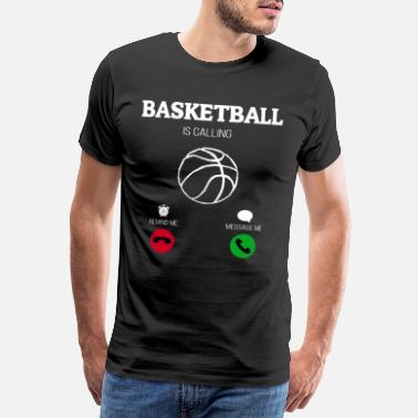 Basketbalteam Basketbal roept basketbalspeler bball baller - Mannen premium T-shirt