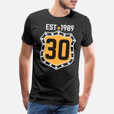 Born 1989 EST 1989 30th Birthday - Men's Premium T-Shirt