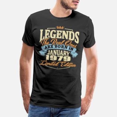 Established Real legends are born in january 1979 - Men's Premium T-Shirt