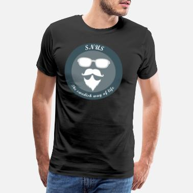 Lustig Eishockey SNUS the swedish way of life Shirt Geschenk Idee - Männer Premium T-Shirt
