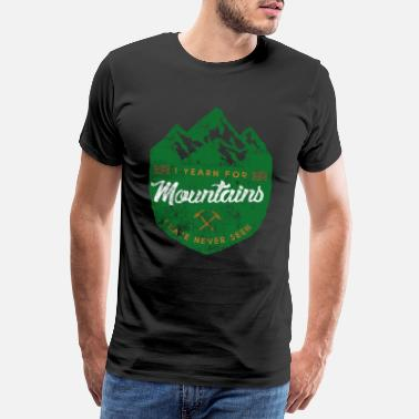 Switzerland Alps mountain mountains saying - Men's Premium T-Shirt
