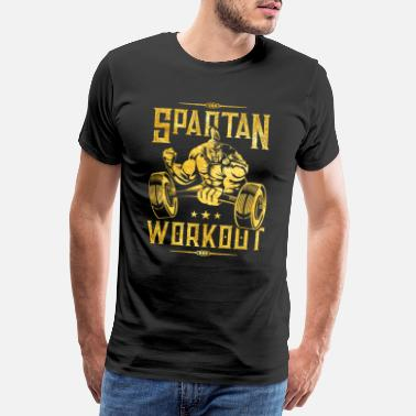 Spartaner spartaner workout gold - Männer Premium T-Shirt
