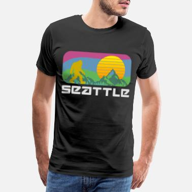 Söka Bigfoot Seattle - Premium T-shirt herr