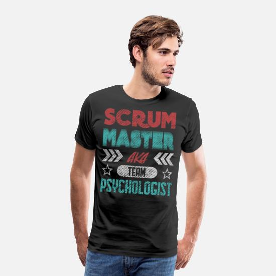 Developer T-Shirts - Scrum Master Psychologist Software Docker - Men's Premium T-Shirt black