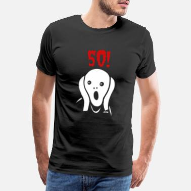Group Sayings Scream 50 Birthday HARIZ Gift Round - Men's Premium T-Shirt
