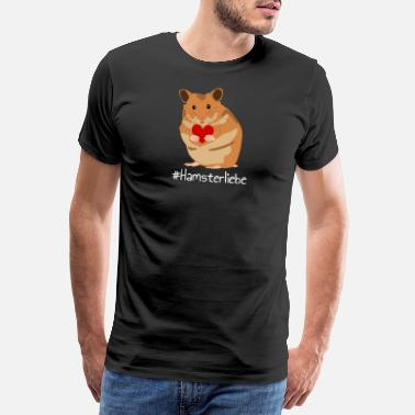 Hamster Love - Hamster With Heart - Pet - Premium T-shirt herr