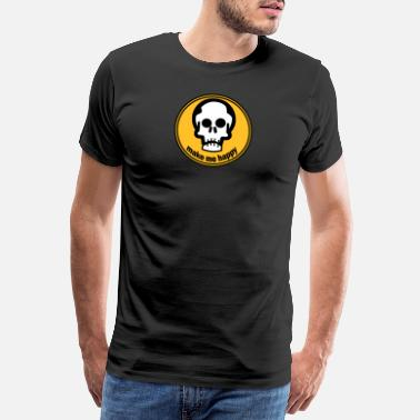 Gekreuzte Knochen make me happy - Männer Premium T-Shirt