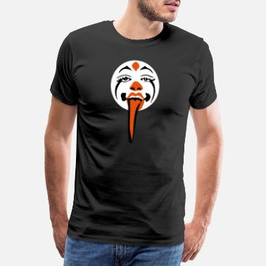 Colourful Scary Clown - Mannen Premium T-shirt